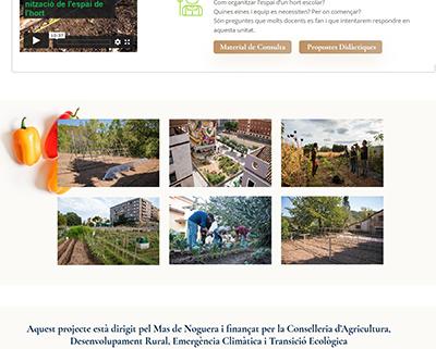 L'hort escolar ecològic. Material per a docents
